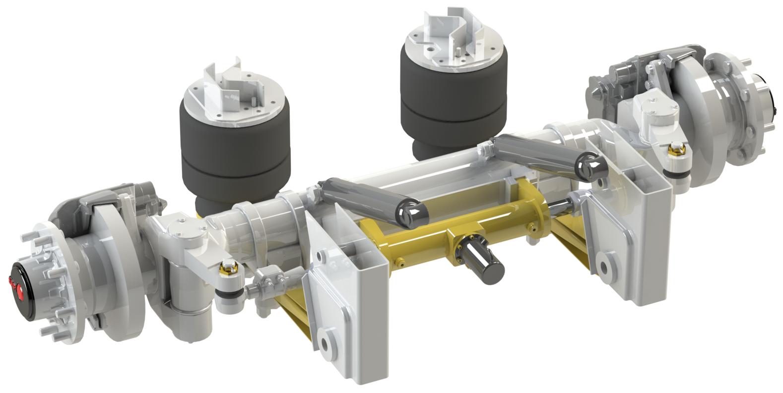 Track rod cylinder
