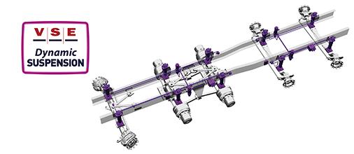 Système de suspension hydropneumatique pour vehicules speciaux