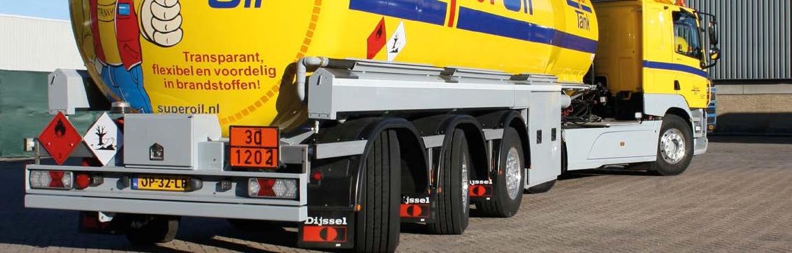 Nieuwe tankwagen met VSE stuursysteem voor SuperOil