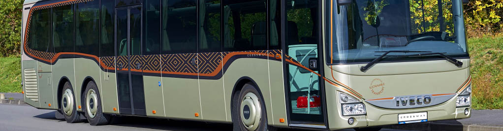 Steering and suspension systems for buses